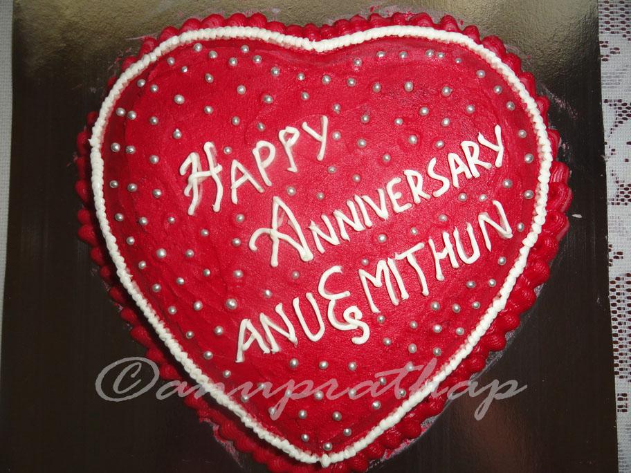 Anu prathap s kitchen another heart shaped wedding anniversary cake