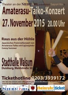 Plakat: Amaterasu-Taiko-Konzert