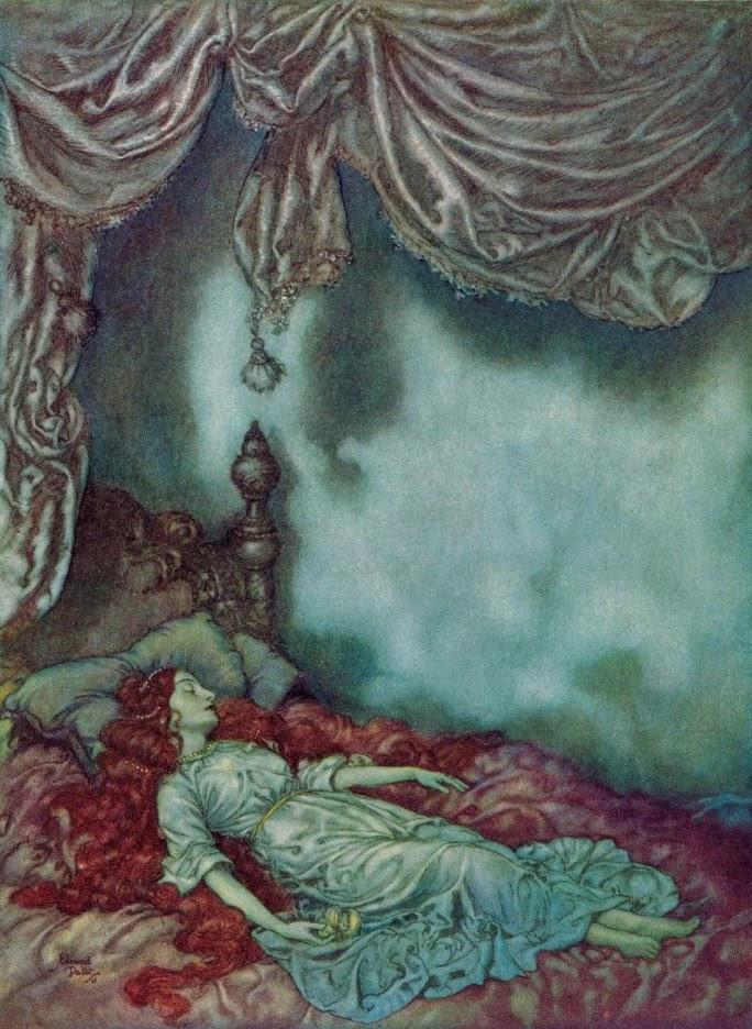 the sleeper by edgar allan poe Irenë and the sleeper  the poem published in 1831 as irene was given considerable revision in 1836 and 1837 in 1841 poe revised it again and changed its title to the sleeper.