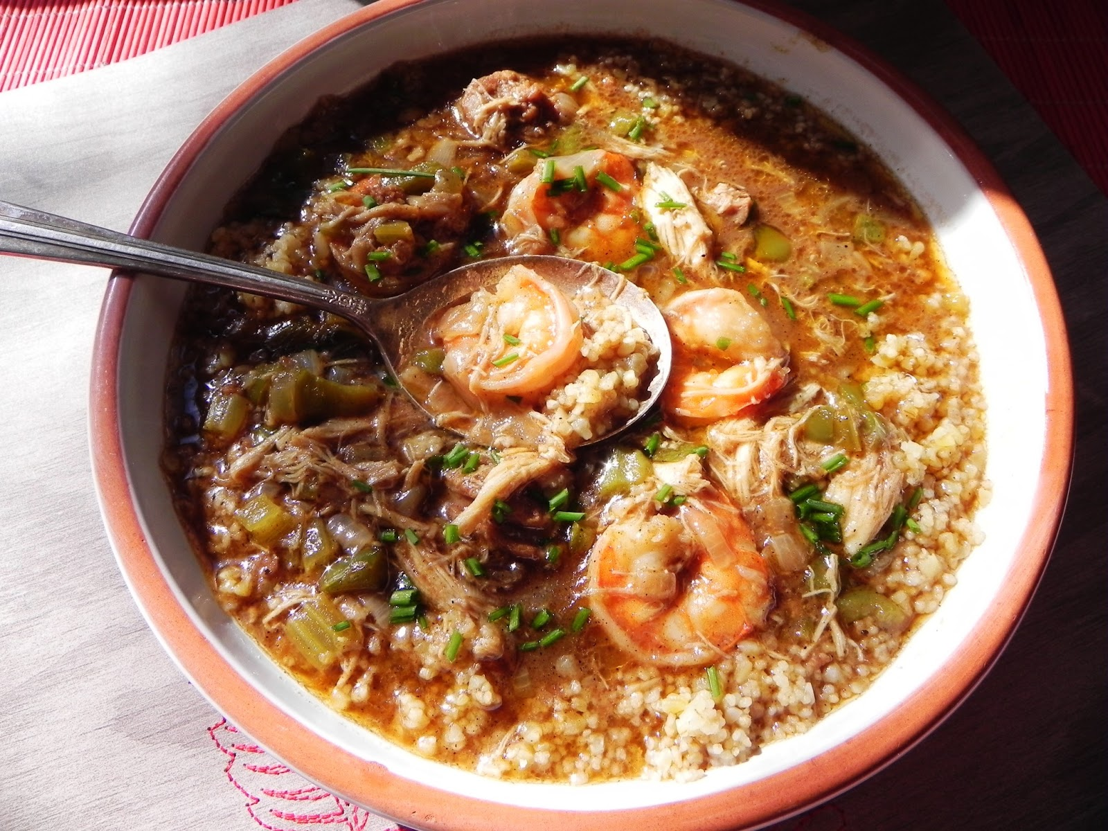 recipe: paul prudhomme chicken and sausage gumbo [26]