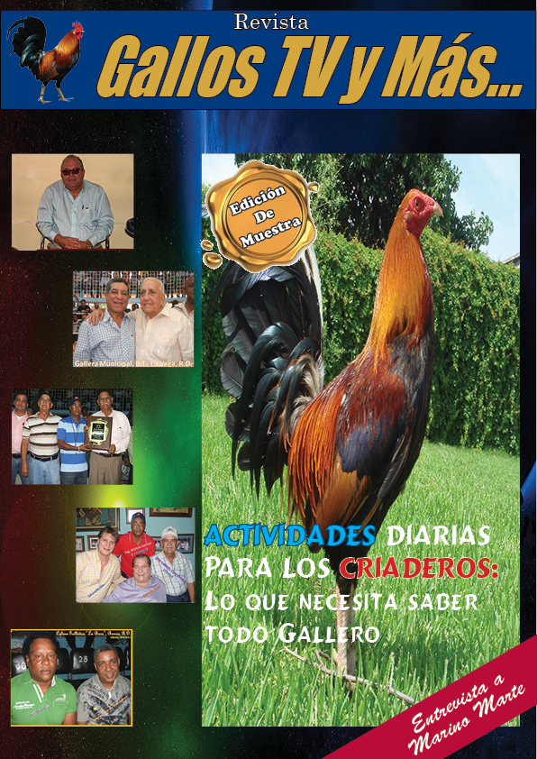 """PORTADA DE MUESTRA DE LA REVISTA: """"Gallos TV y Más"""""""