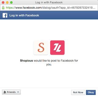 Tampilan Konfirmasi Akun Facebook Kedua