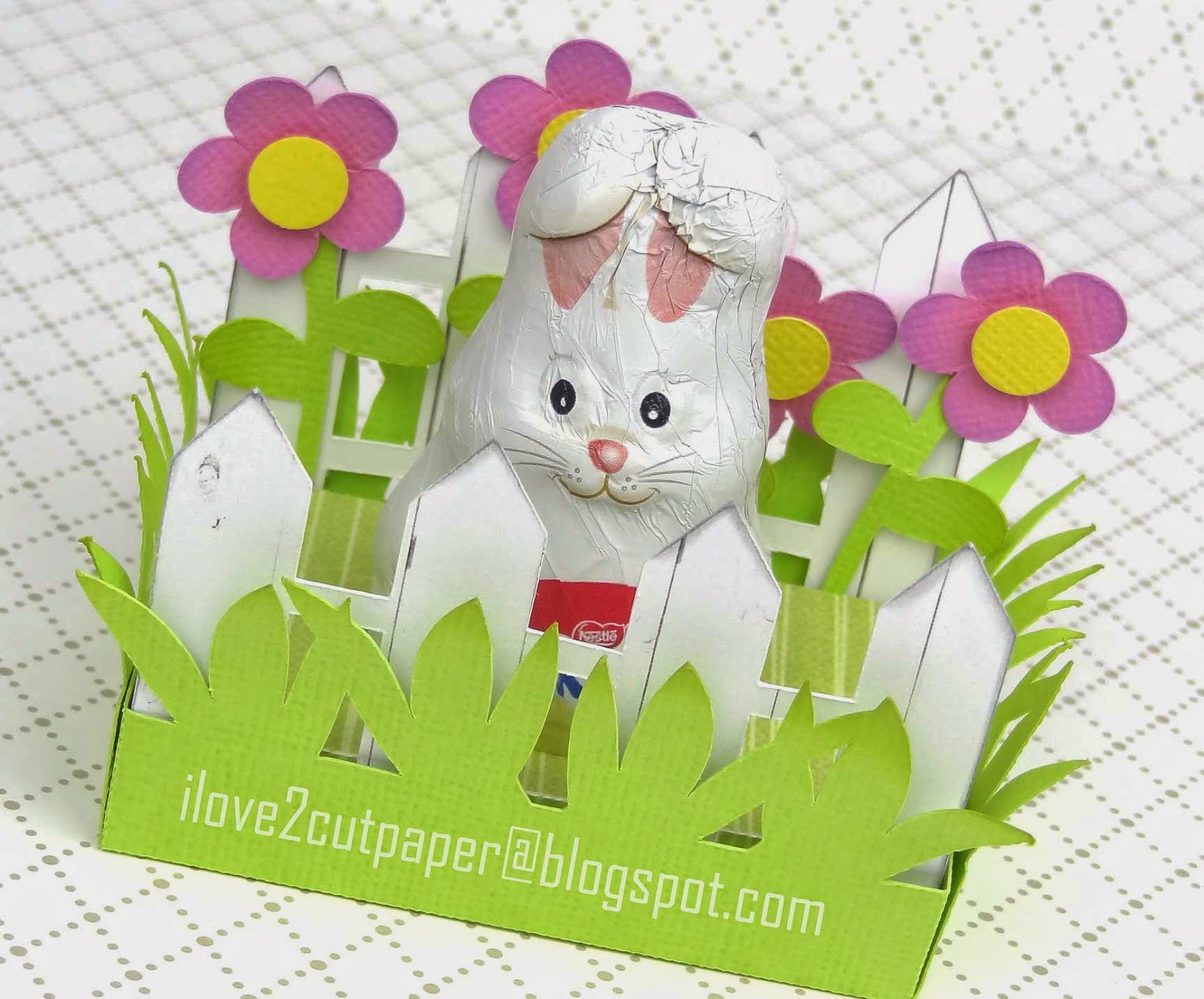 I love 2 cut paper easter bunny gift box easter bunny gift box negle Image collections