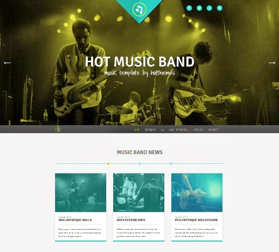 Music Band Responsive Joomla Template