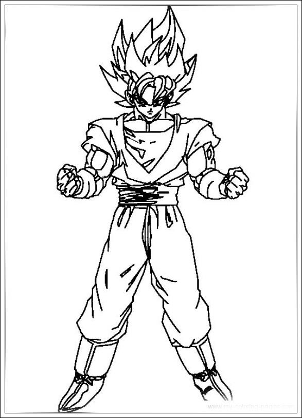 Ausmalbilder Dragon Ball Z zum Drucken