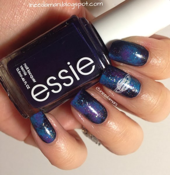 essie after school boy blazer simple easy galaxy nails