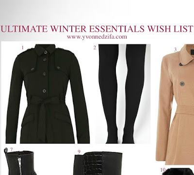 winter essentials wish list