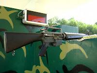 Américaine Machine Gun M16 - tunnels de Cu Chi (Vietnam)