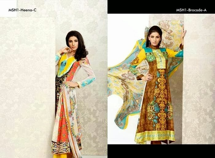 Latest Lawn Collection By Mashaal