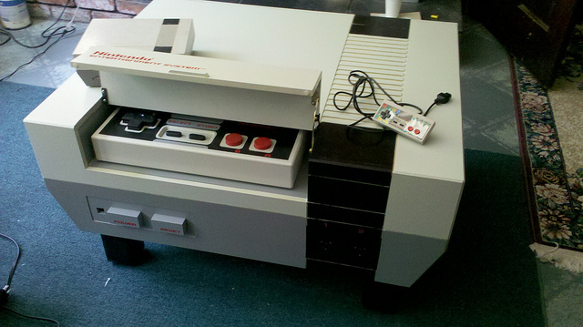 Nintendo Entertainment System coffee table