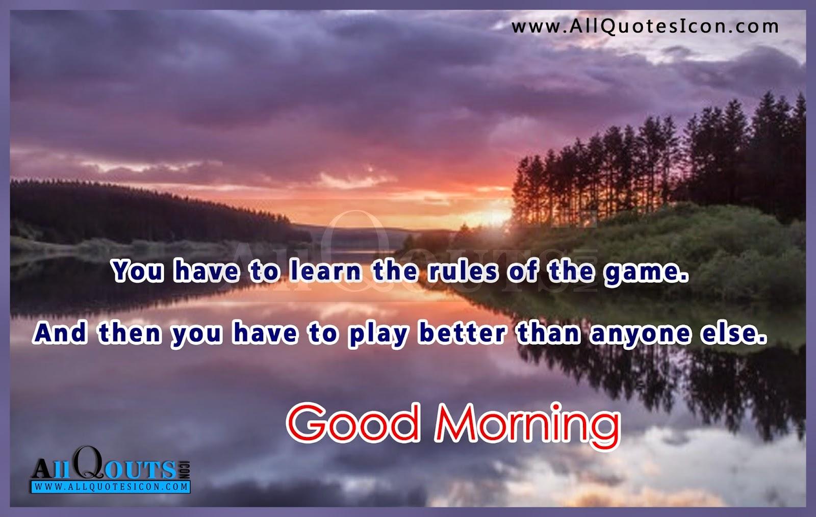 Good Morning Greetings In English Allquotesicon Telugu