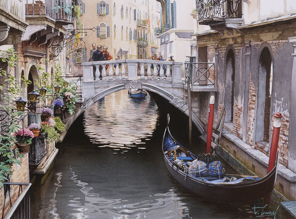 Hermosas pinturas de acuarela por Thierry Duval