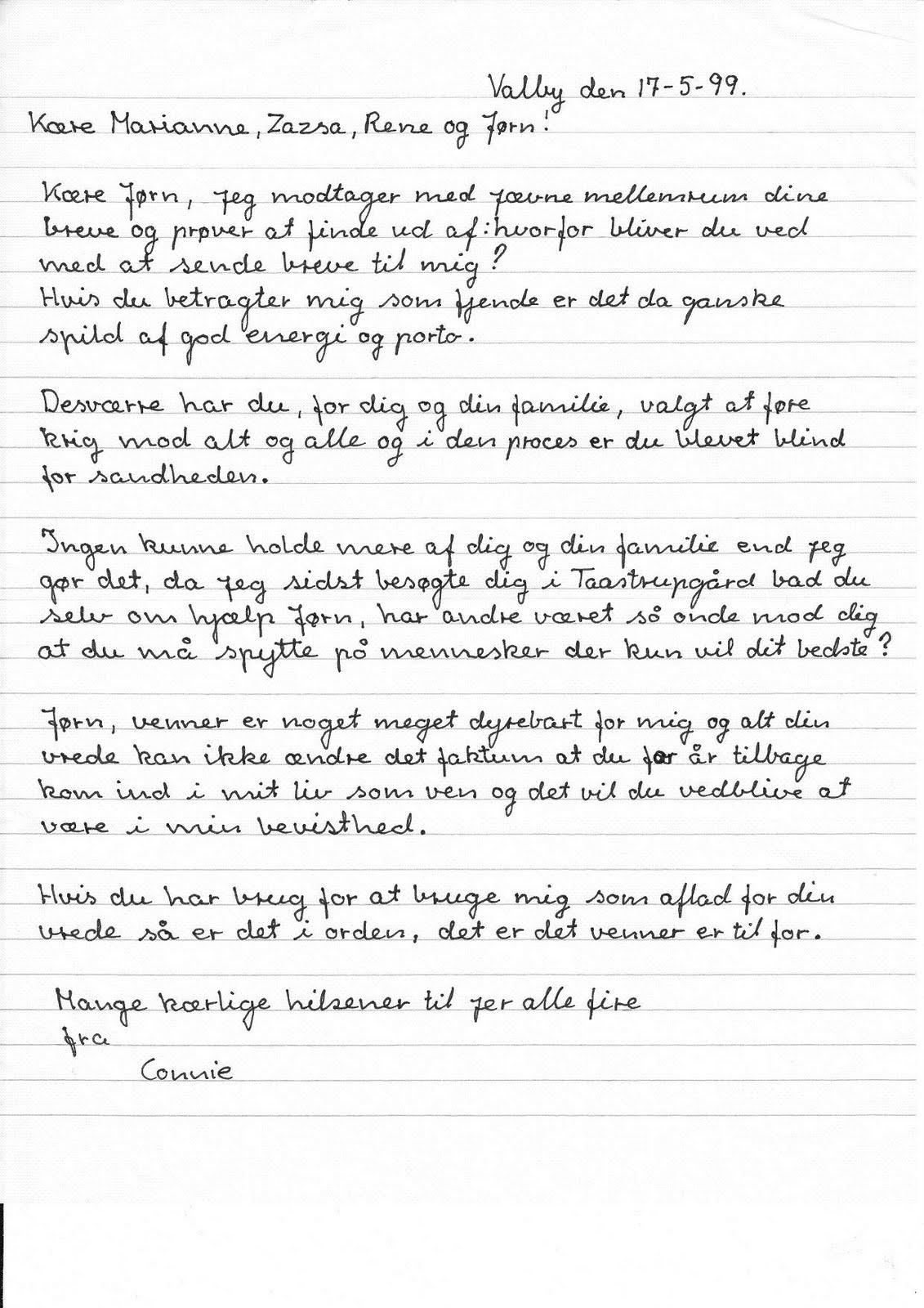brev til ven
