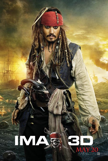 Pirates of the Caribbean 4 Jack Sparrow poster