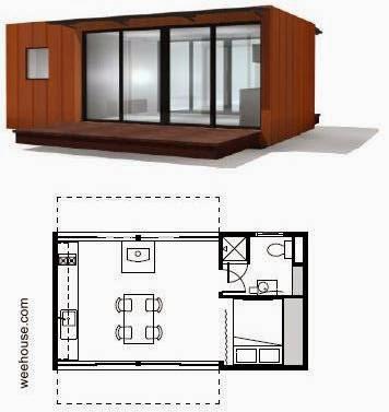 Weehouse casa modular pequeña en Estados Unidos