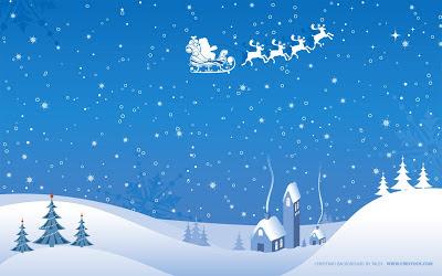 Wallpaper - Paisaje nevado, Santa Claus - Fondo de pantalla