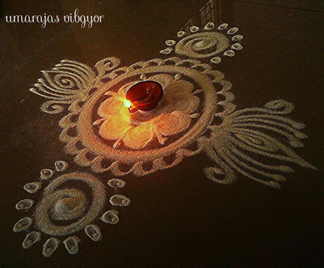 Simple Rangoli for Diwali 5