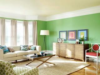 Decoración de sala verde