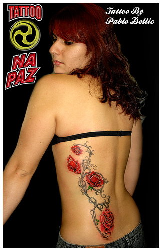 roses tattoos for girls