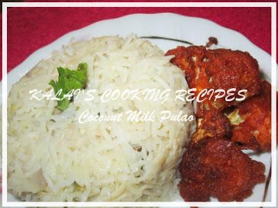 Coconut Milk Pulao | தேங்காய் பால் புலாவ் | Thengai Paal Saadam