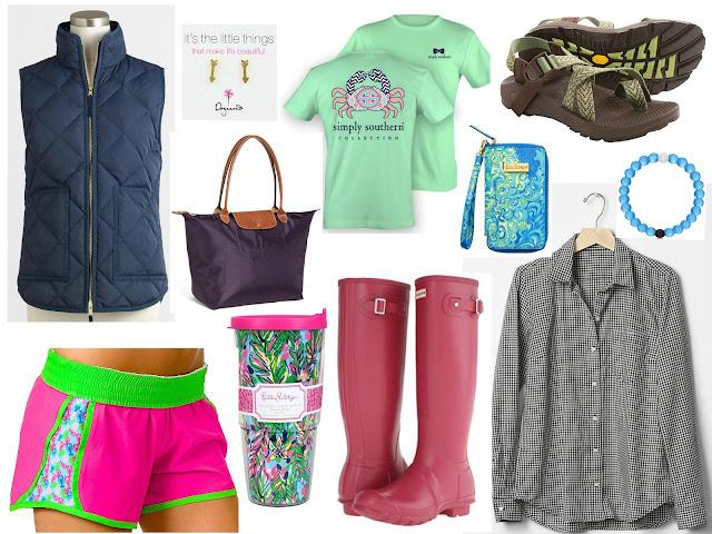 preppy essentials for high school students chacos longchamp lokai hunter boots lilly pulitzer