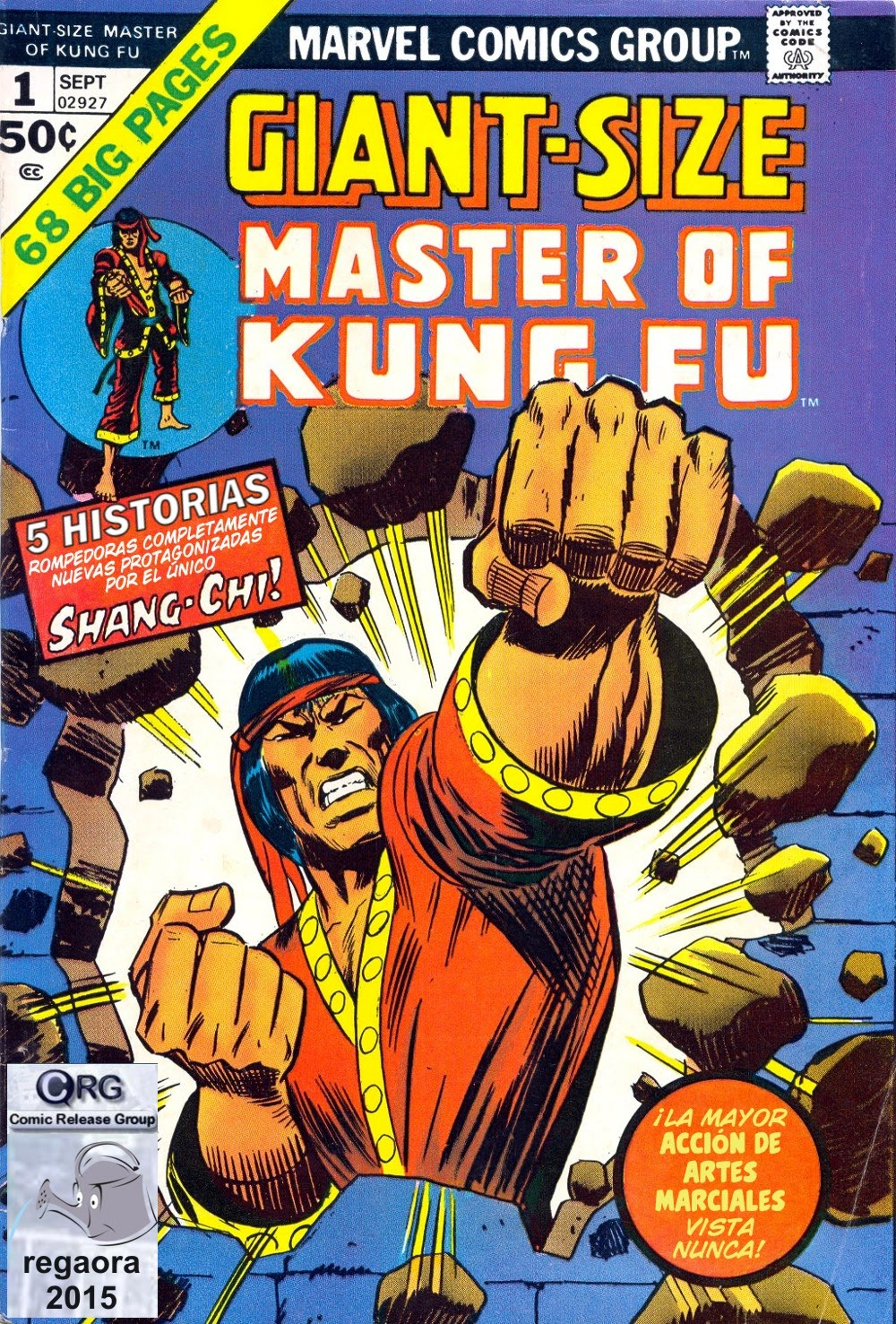 Portada de Master of Kung Fu Giant-Size #1 traducido