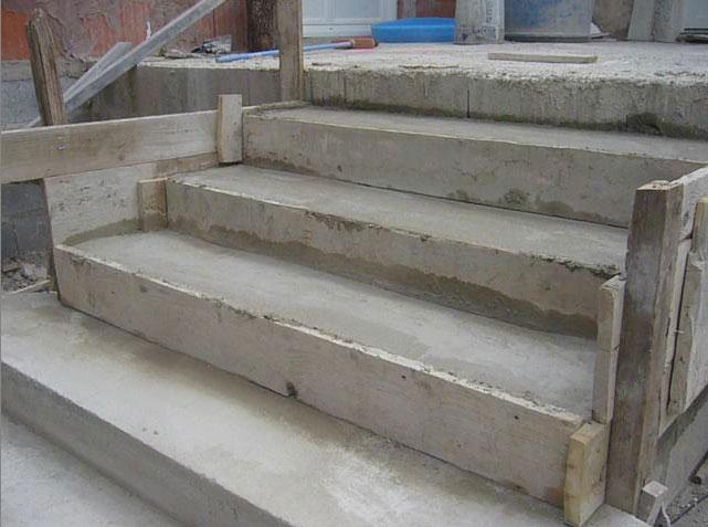 Construction d 39 un escalier en b ton for Plan de perron exterieur