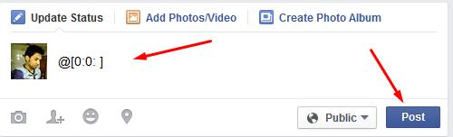 Blank / Empty Status on Facebook
