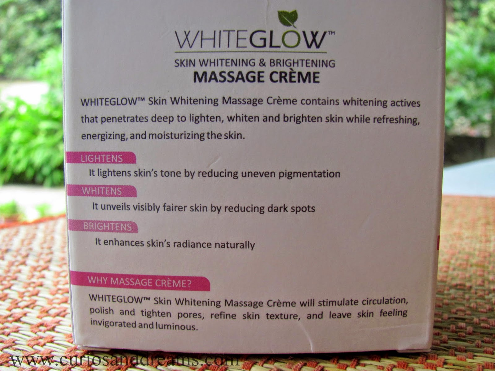 Lotus Herbals Whiteglow Massage Creme Review