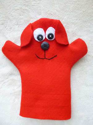 how to make dog hand puppets