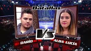 Darío Benitez y Alba Lucía-Batallas La Voz