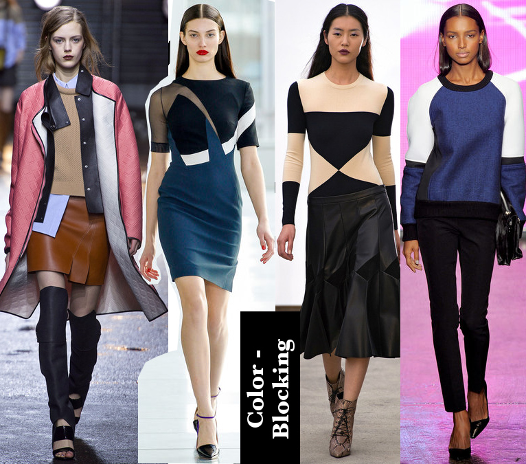 Women's Fall 2013/2014 Trends- Color block looks