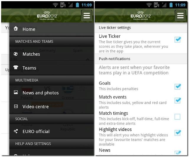 Snapshot tampilan fitur-fitur aplikasi
