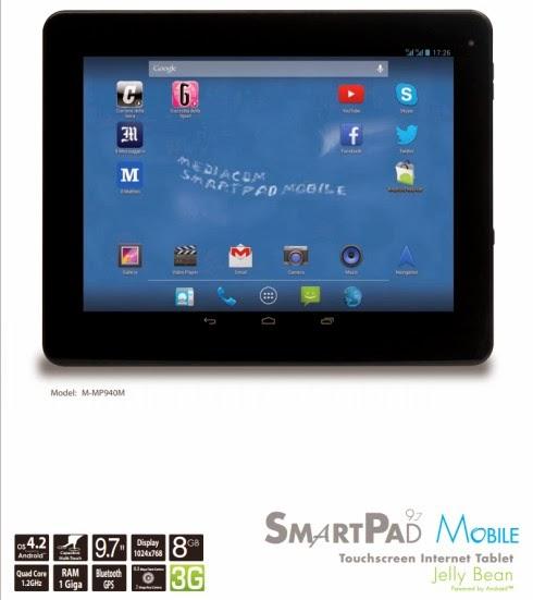 Nuovo tablet da 9,7 pollici di diagonale che ha il supporto al dual sim anche per telefonare