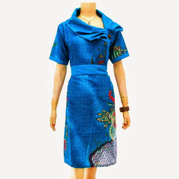 DB3205 Model Baju Dress Batik Modern Terbaru 2013
