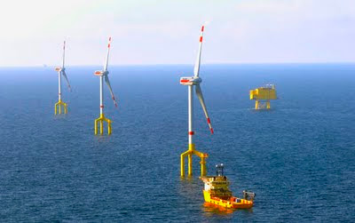 BorWin Alpha wind farm in the North Sea
