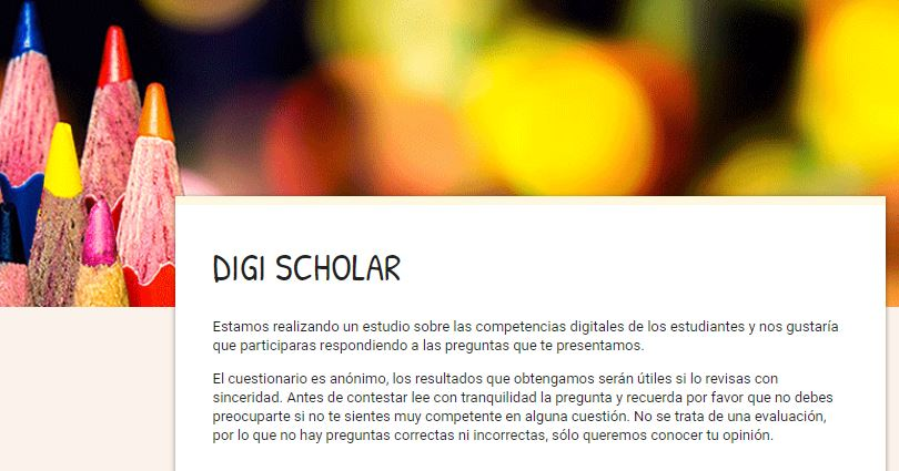 Digi Scholar. Estudio competencias digitales no universitarios
