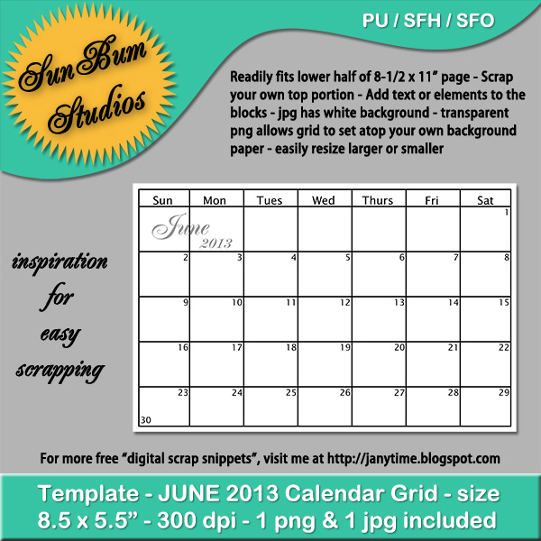 Calendar Grid June : Calendar grid june search results