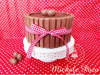 bolode chocolate, kit kat, doce de leite, chocolate callebaut, Michele Pazo
