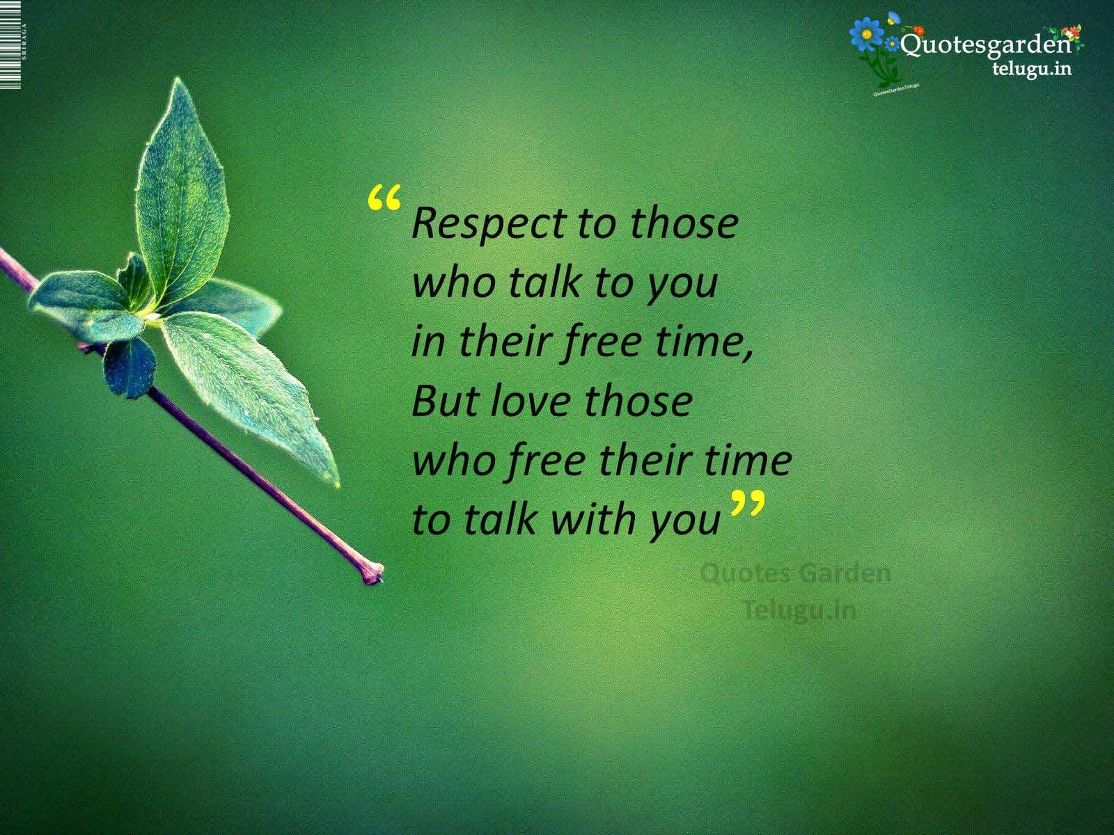 quotes about respect love relationship in life quotes