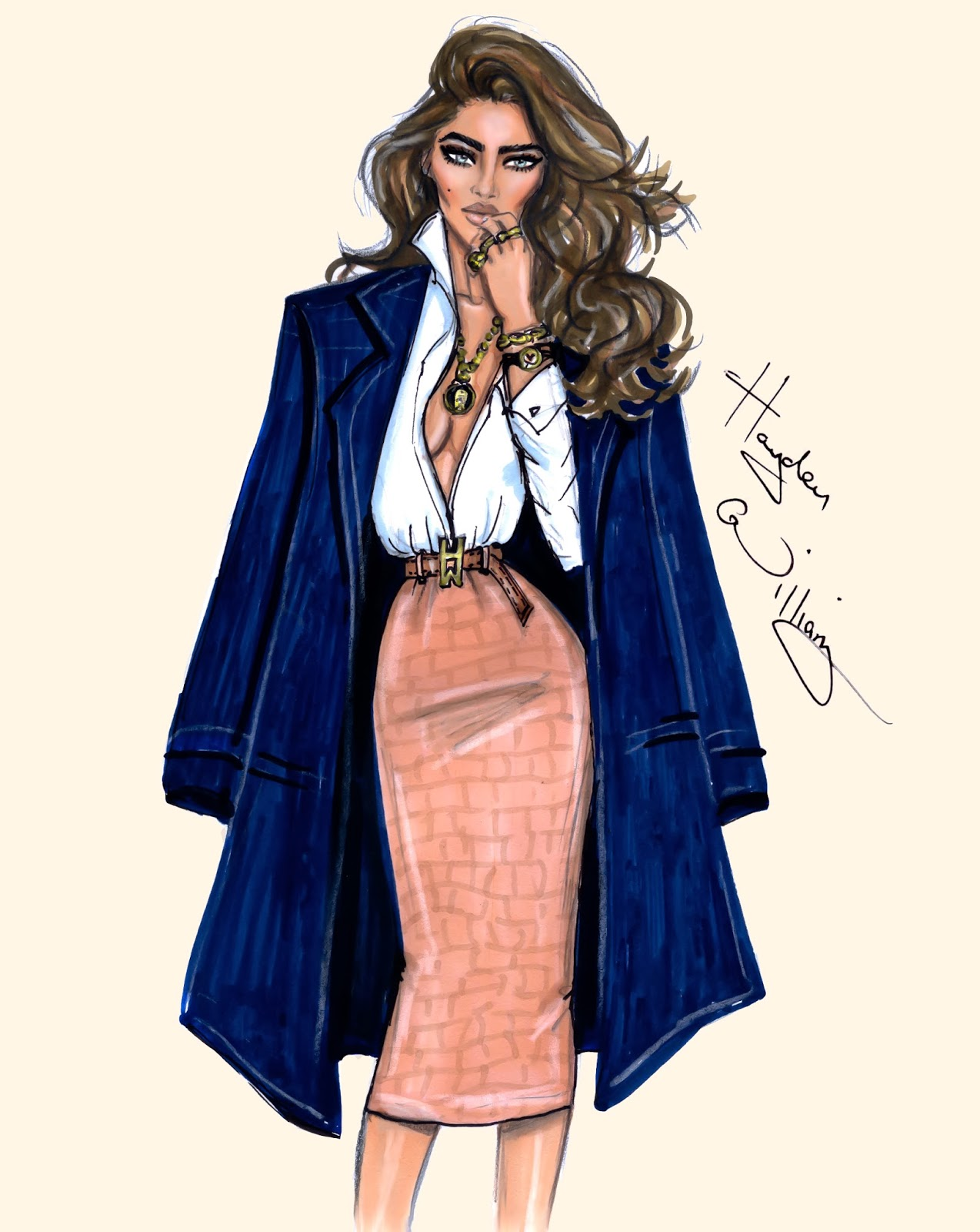 Hayden Williams Fashion Illustrations 39 True Classic 39 By Hayden Williams