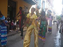 Street Revelers in Havana Outside Ambos Mundos Hotel, Havana