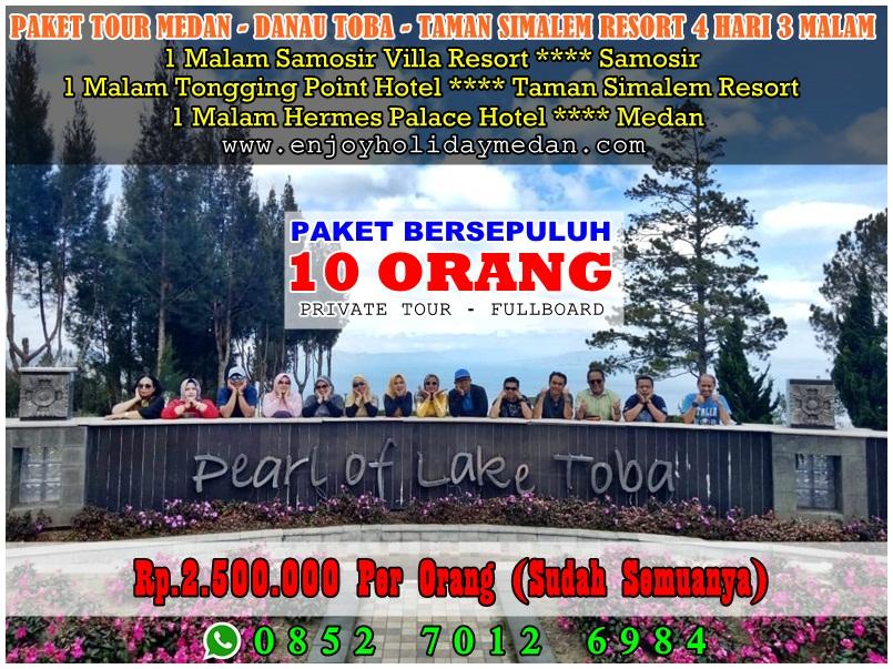 4D3N Medan Lake Toba Tour + Agro Tour Taman Simalem Resort