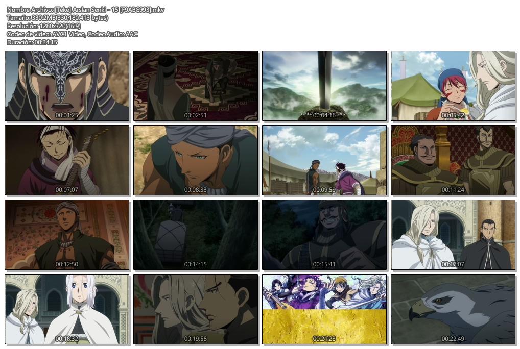 Arslan Senki|14&15/25|720p|En Emision|HDTV