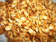 Roasted Pumpkin Seeds. What You Will Need: the seeds from a pumpkin or two .