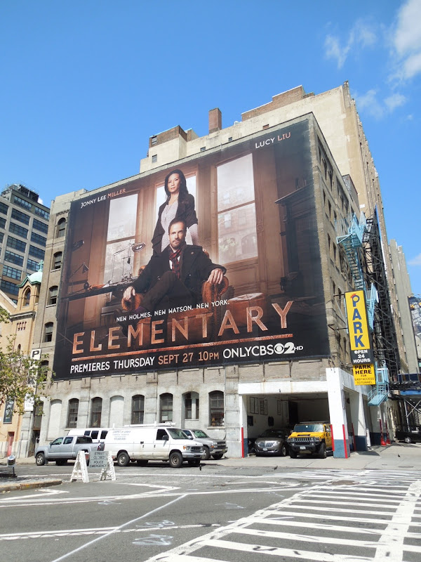 Giant Elementary billboard NYC