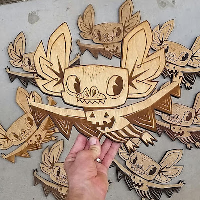 San Diego Comic-Con 2015 Exclusive Hermees Laser Cut Wood Wall Art by Gary Ham