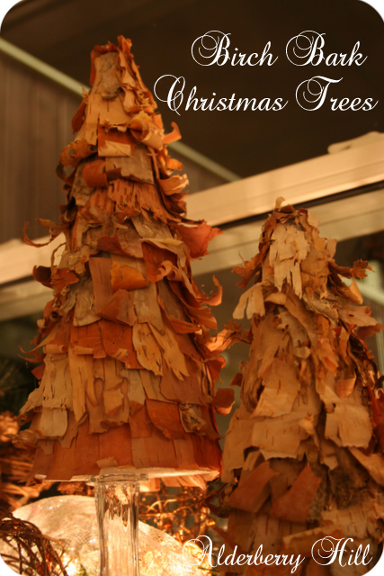 Birch Bark Christmas Trees