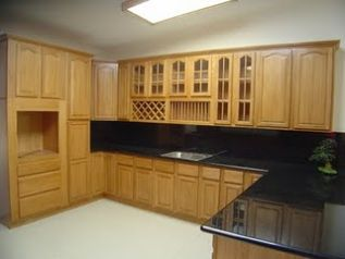 light brown kitchen cabinets pic