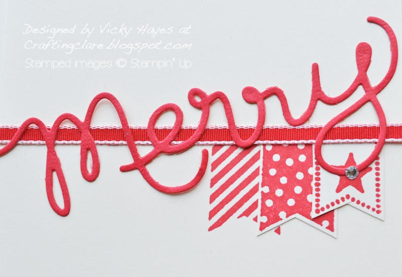 Sale-a-bration 2014 set Banner Blast and the banner punch is great for a Christmas card